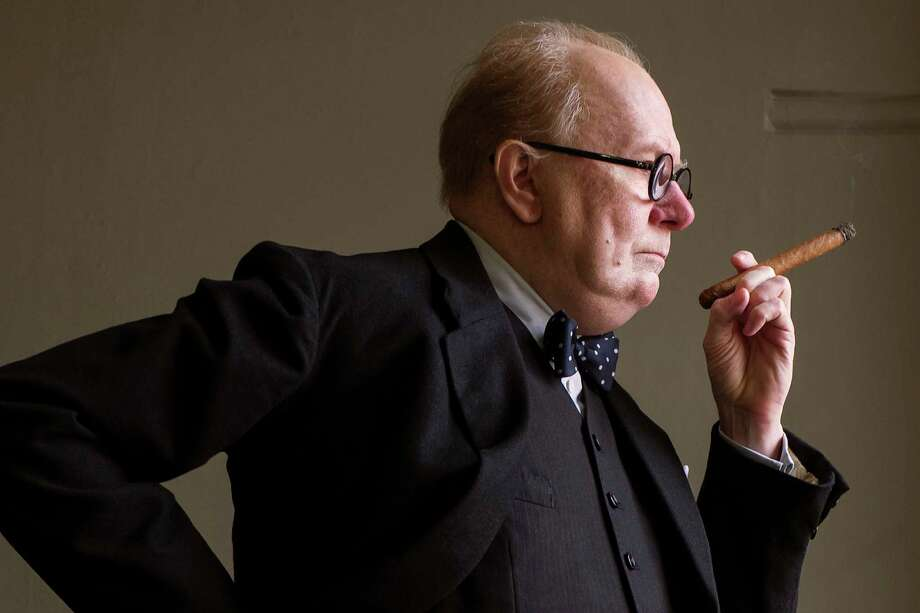 "This image released by Focus Features shows Gary Oldman as Winston Churchill in a scene from ""Darkest Hour."" On Wednesday, Dec. 13, 2017, Oldman was nominated for a screen Actors Guild Award for male actor in a leading role in a motion picture. The SAG Awards will air live on Sunday, Jan. 21 on TNT and TBS. (Jack English/Focus Features via AP) ORG XMIT: NYET805 Photo: Jack English / © 2017 FOCUS FEATURES LLC. ALL RIGHTS RESERVED."