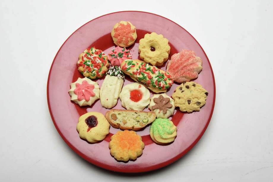 Plate of Italian cookies from Bella Napoli on Thursday, Dec. 14, 2017, at the Times Union in Colonie, N.Y. (Will Waldron/Times Union) Photo: Will Waldron / 20042415A
