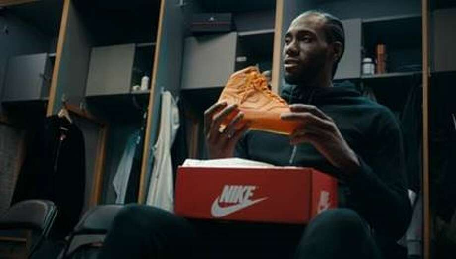 """Foot Locker and Jordan launched their holiday campaign featuring The Klaw on Wednesday. The spot, """"Bold Like Kawhi"""" features cameos by his fellow Spur, LaMarcus Aldridge and rapper Nipsey Hussle. Photo: Provided By Edelman US"""