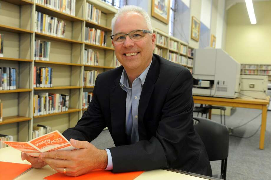 James Wadleigh, CEO for Access Health CT, poses during a visit the Bridgeport Public Library during an open enrollment session in Bridgeport, Conn. Open enrollment in Connecticut ends Dec. 22, 2017. Photo: Ned Gerard / Hearst Connecticut Media / Connecticut Post