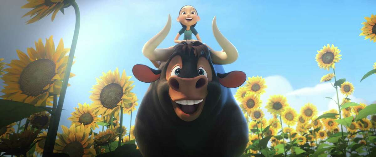"""This image released by Twentieth Century Fox shows a scene from the animated film, """"Ferdinand."""" The film was nominated for a Golden Globe for best animated picture on Monday, Dec. 11, 2017. The 75th Golden Globe Awards will be held on Sunday, Jan. 7, 2018 on NBC. (Twentieth Century Fox via AP) ORG XMIT: NYET113"""