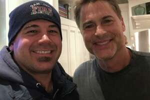 Rob Lowe invited Santa Clara County firefighters to dinner after they saved his home from the Thomas Fire.