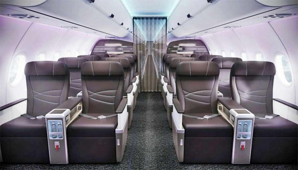 First class cabin on Hawaiian's A321neo (Image: Hawaiian)