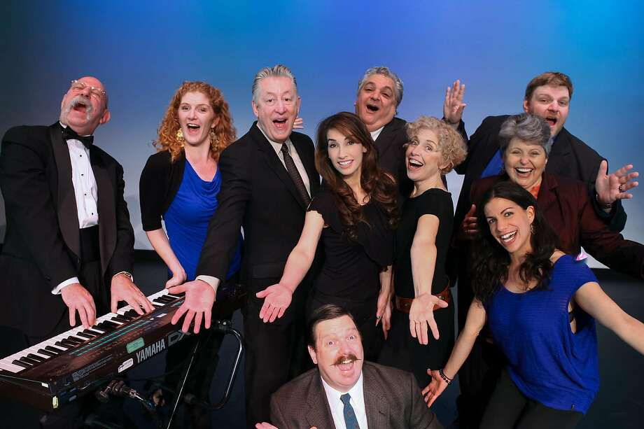 """The cast of """"Spontaneous Broadway,"""" playing New Year's Eve. Photo: Stephanie Pool, BATS Improv"""