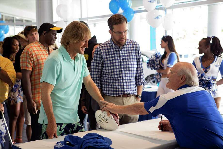 "Owen Wilson, from left, Ed Helms and Terry Bradshaw star in ""Father Figures."" Photo: Warner Bros. Pictures, HO / TNS"