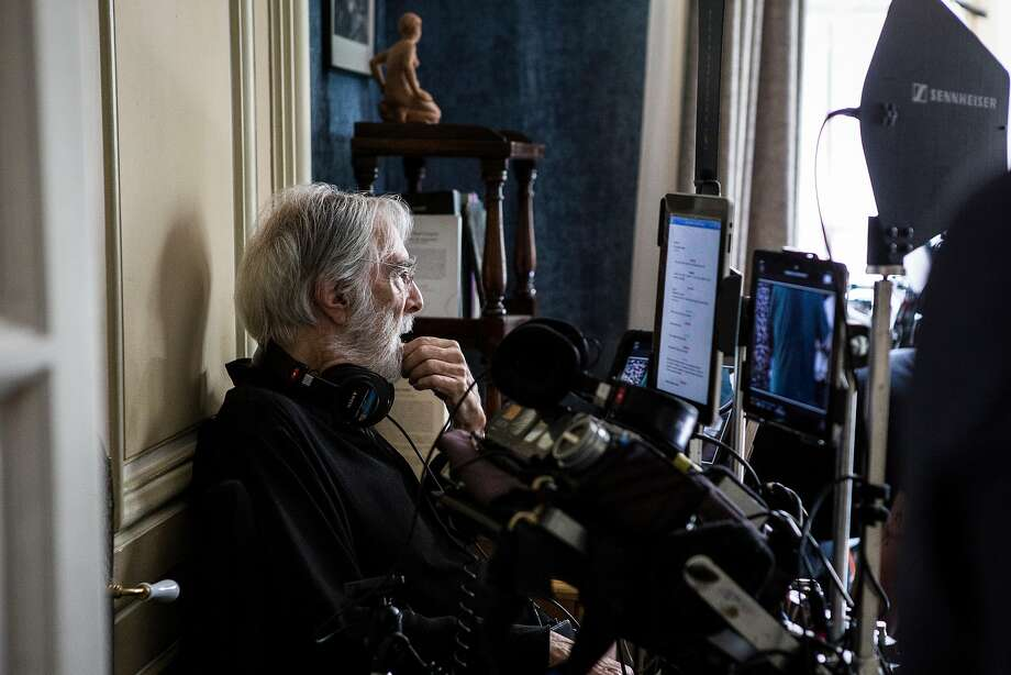 "Michael Haneke on the set of ""Happy End."" Photo: Courtesy Sony Pictures Classics"