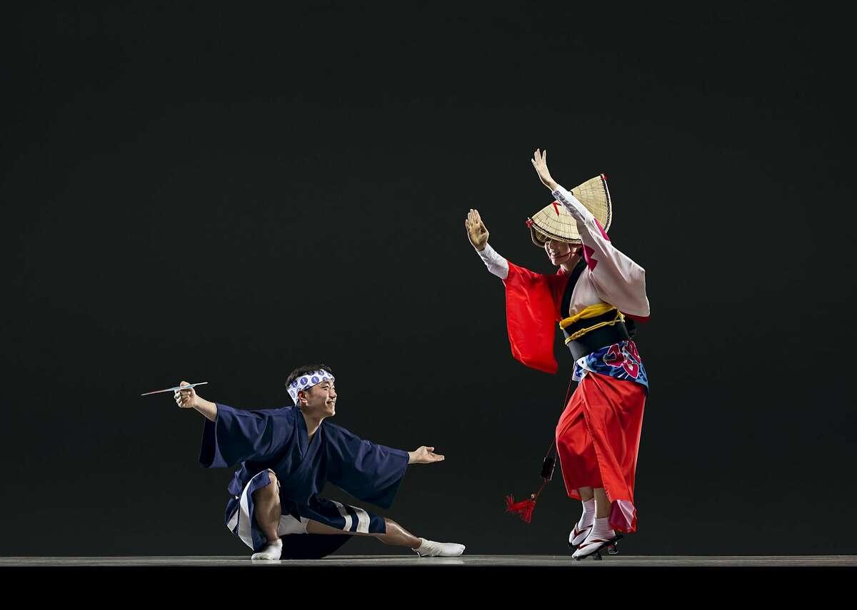 In the Ethnic Dance Festival�s Opera House debut, Awakko Ren a traditional Japanese dance. Photo: RJ Muna