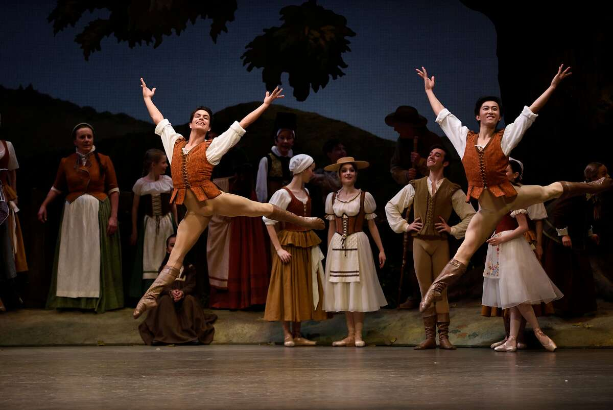 The rising talent at S.F. Ballet includes Esteban Hernandez and Wei Wang (in �Giselle�). Photo: Erik Tomasson