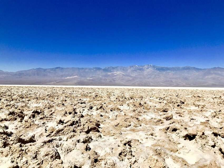 Not to be confused with the nearby Furnace Creek course,Devil's Golf Course isa sprawling salt pan on the floor of Death Valley composed of halite salt crystals. The bizarre landscape gets its name from a 1934 National Park Service guidebook that said,