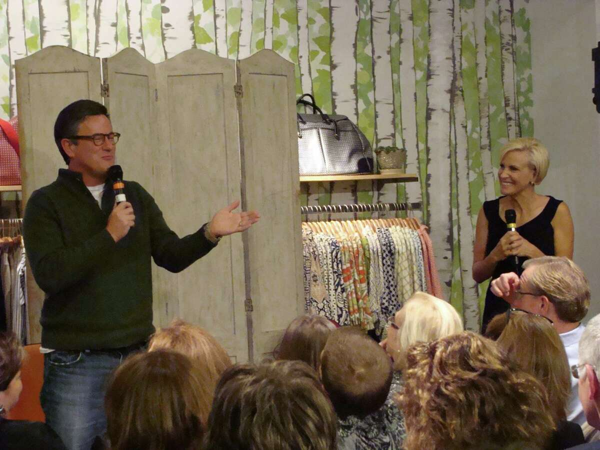 Joe Scarborough and Mika Brezinski, co-hosts of
