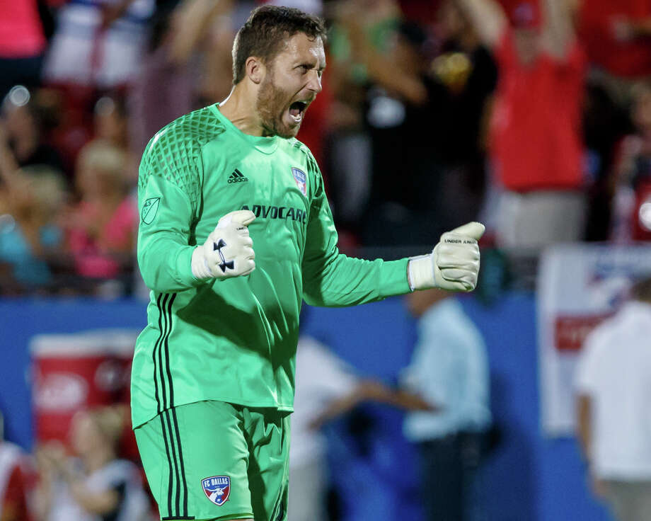 New Dynamo goalkeeper Chris Seitz played for Texas Derby rival FC Dallas for seven seasons. He is the third player in the history of the rivalry to go directly from one team to the other. Photo: Icon Sportswire/Icon Sportswire Via Getty Images