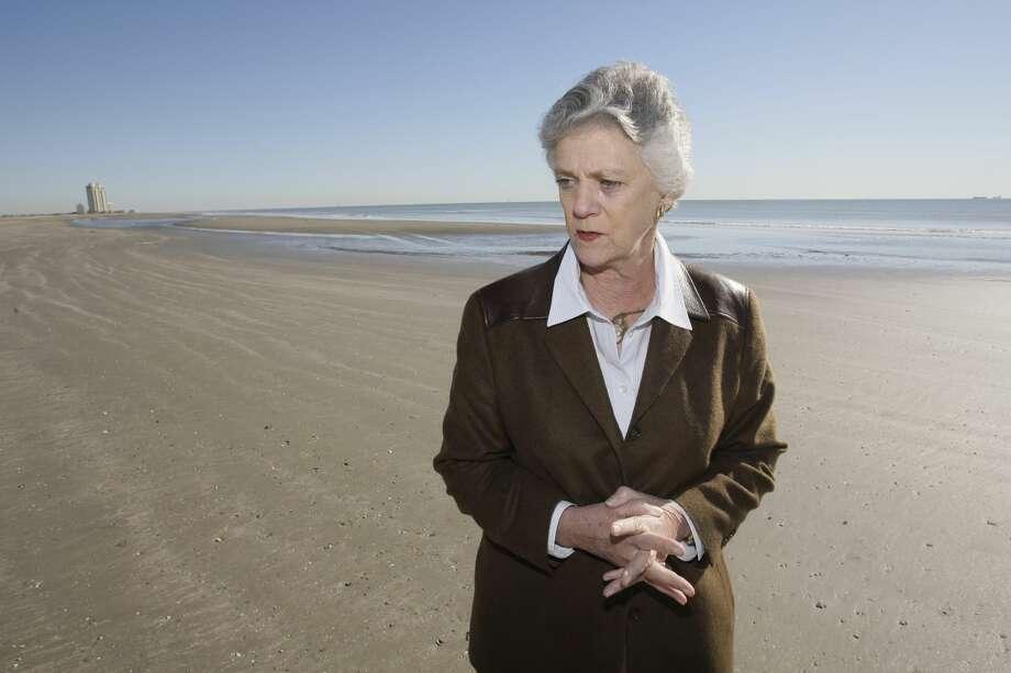 Lyda Ann Thomas, the Galveston mayor, on the beach along Seawall Blvd. in Galveston. Thomas, 80, passed away April 19, 2017. Photo: Melissa Phillip/Houston Chronicle