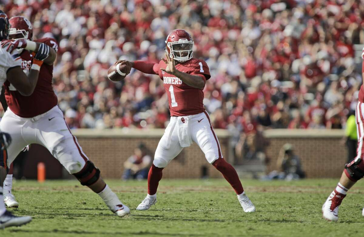 Kyler Murray is believed to be the heir apparent to Heisman Trophy winner Baker Mayfield at Oklahoma.