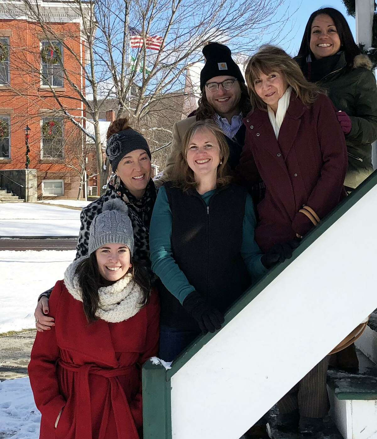 The staff of the Greater New Milford Spectrum and its sister paper, The News-Times, as well as those at Hearst Connecticut Media, wish residents of the Greater New Milford area very happy holidays and an enjoyable, healthy and fulfilling New Year. From left to right, front row, reporter Katrina Koerting, writer/photographer Deborah Rose and media consultant Frankie Caouette, and in back, photographer Trish Haldin, reporter Barry Lytton and Spectrum/News-Times Assistant Managing Editor Keila Torres Ocasio.