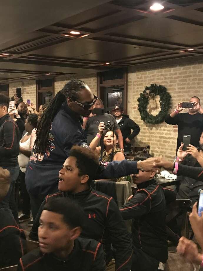 Snoop Dogg Surprises San Antonio Youth Football Team At