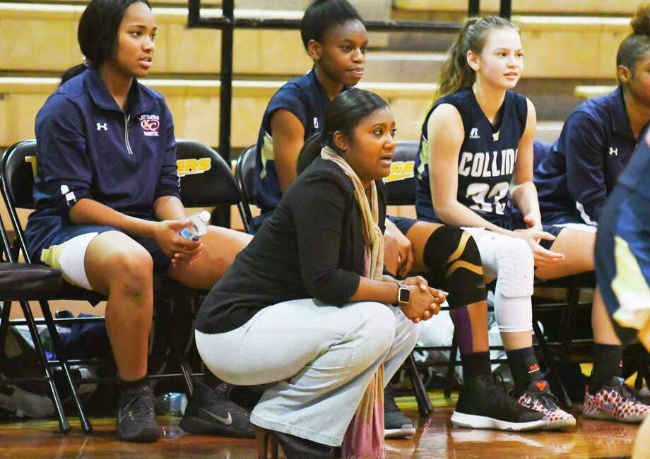 First-year coach Tatiana Lee is a Stacy Stroman protégé who wants Klein Collins to play fast. Lee spent seven seasons under Stroman at Dekaney, where she was part of six teams that won at least 30 games, including the 2011-12 team that won 40 games and went to the state tournament. After taking two years off, Lee landed her first head job at Collins. Her goal coming in was to instill higher expectations – so they've talked a lot about what it took for the Wildcats to reach state – and a faster pace, requiring hours of evaluation and development. Photo: Tony Gaines/ HCN, Photographer
