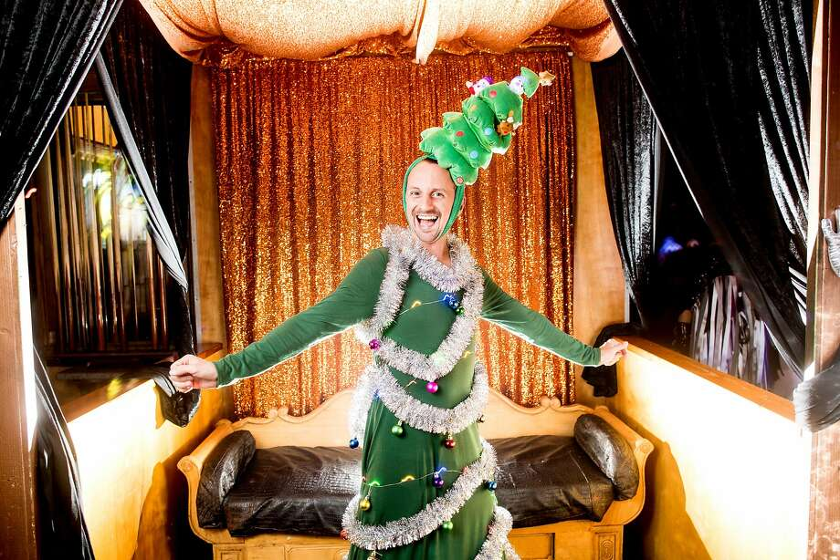 "Bryan Price is lit up like a Christmas tree while attending Van Hedwall's ""Caftan Christmas"" at The Stud on Saturday, Dec. 16, 2017, in San Francisco. Photo: Noah Berger, Special To The Chronicle"
