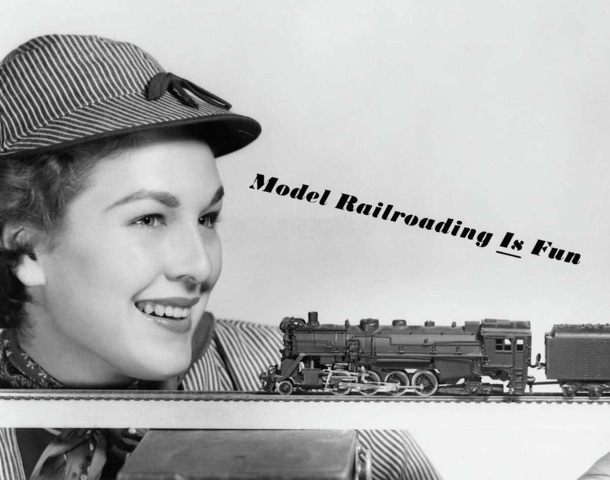 From the August 1957 Houston Post: Contending that model railroading can be fun is Miss Houston, Gaylynn Baker. Gaylynn, who is vying this weekend for the Miss Texas title in Kerrville, is readying a welcome for the nation's model railroaders who will come to Houston for the convention of the National Association of Model Railroads, Aug. 29-Sept. 1.
