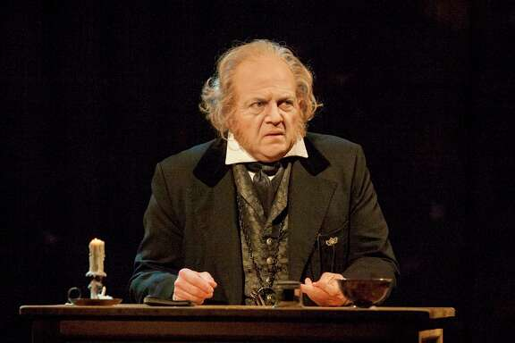 "Jeffrey Bean has portrayed Ebenezer Scrooge in the Alley Theatre's ""A Christmas Carol"" for ten years."