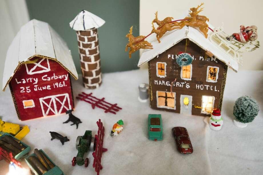 Margaret's Hotel is part of the Carbary family's cardboard recreation of the village of Kawkawlin. (Katy Kildee/kkildee@mdn.net) Photo: (Katy Kildee/kkildee@mdn.net)