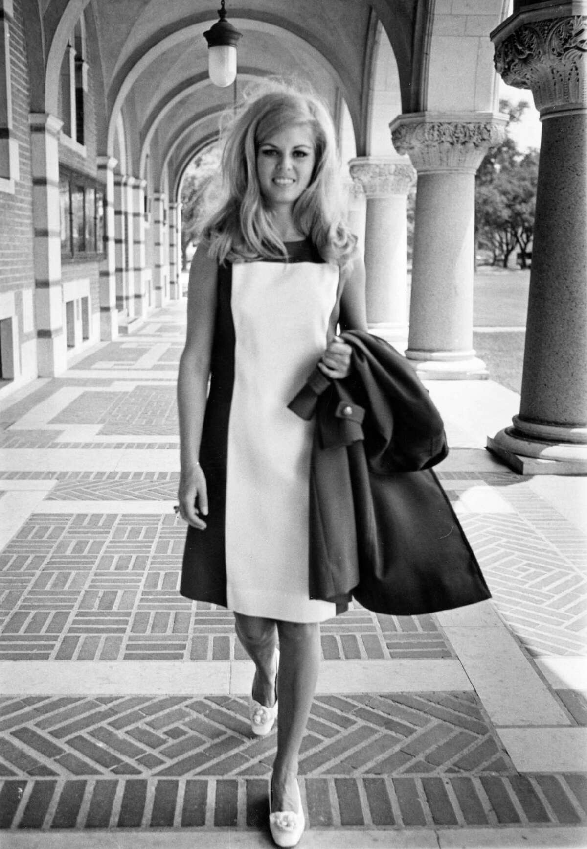 Bonnie Robinson, Miss Houston 1967, at Rice University, May 1967.