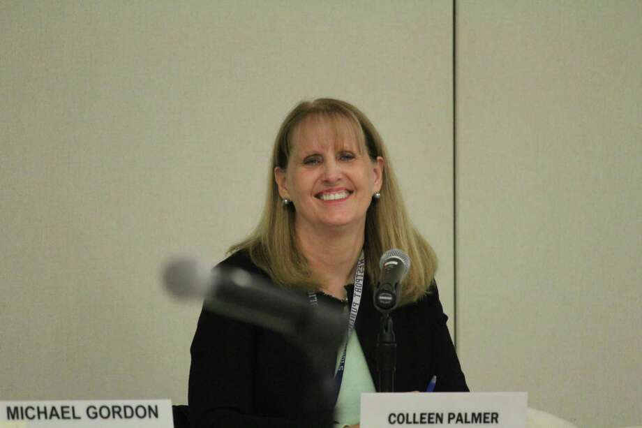 Westport Superintendent Colleen Palmer at the April 24, 2017 school board meeting. Photo: Chris Marquette / Hearst Connecticut Media / Westport News
