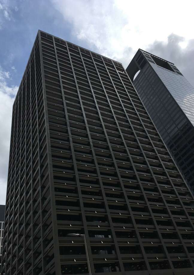 The 32-story Kinder Morgan building is at 1001 Louisiana in downtown Houston. Photo: Katherine Feser / Houston Chronicle