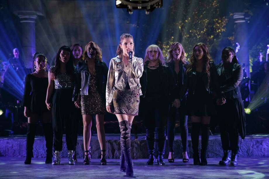 "This image released by Universal Pictures shows Anna Kendrick, center, in a scene from ""Pitch Perfect 3."" (Quantrell D. Colbert/Universal Pictures via AP) ORG XMIT: NYET615 Photo: Quantrell D. Colbert / © Universal Pictures"