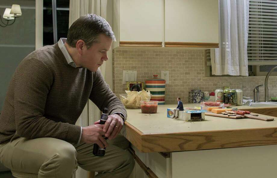 """In this image released by Paramount Pictures, Matt Damon appears in a scene from """"Downsizing."""" (Paramount Pictures via AP) ORG XMIT: NYET602 / © 2017 Paramount Pictures. All Rights Reserved."""