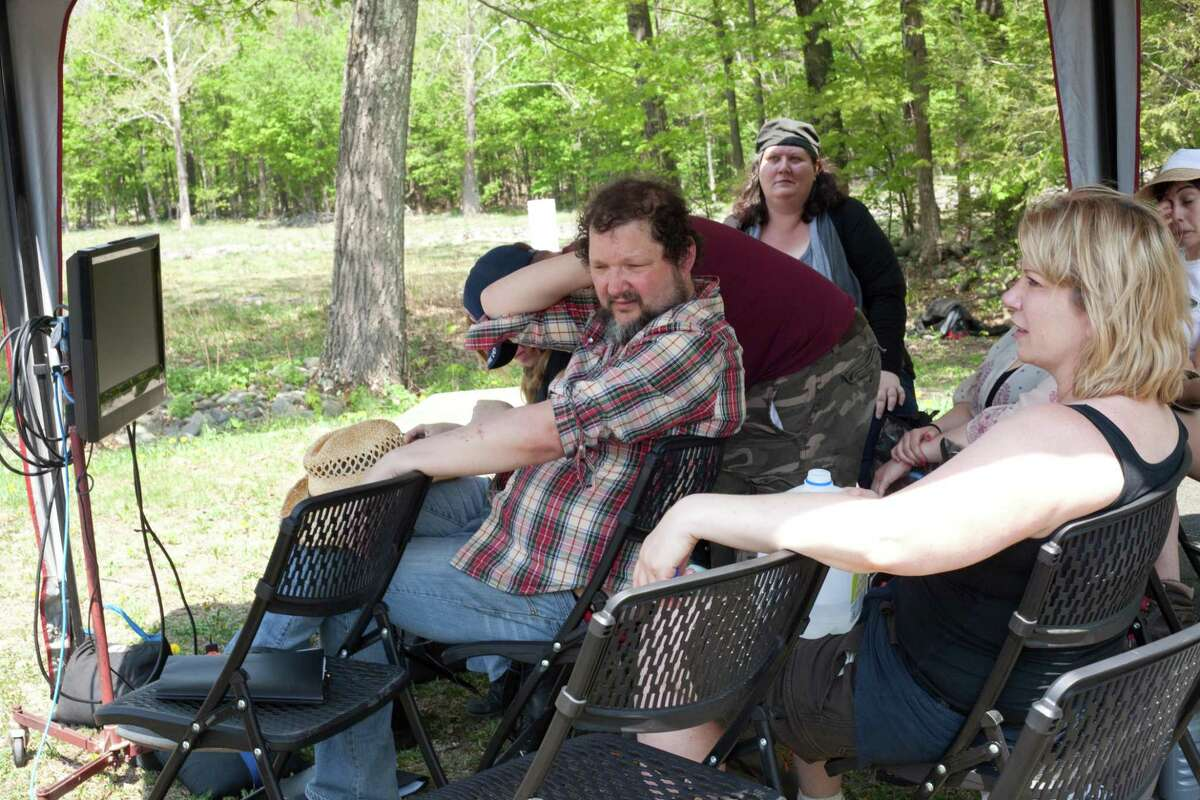 """Darcy"" directors on set: Jon Russell Cring and Heidi Philipsen-Meissner (Personae Entertainment)"