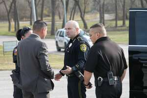 Bexar County Sheriff Javier Salazar on scene after 6-year-old Kameron Prescott was fatally shot when Bexar County sheriff's deputies opened fire on a woman at a Schertz mobile home park after a lengthy manhunt Thursday, Dec. 21, 2017. The woman — a wanted felon and a suspect in a car theft — also was killed by the gunfire.