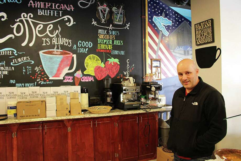 Funchal Café and Funchal American Buffet owner Val Fernandes stands in one of his restaurants in Bridgeport, Conn., on Thursday, Dec. 21, 2017. Photo: Jordan Grice / Hearst Connecticut Media / The News-Times Contributed