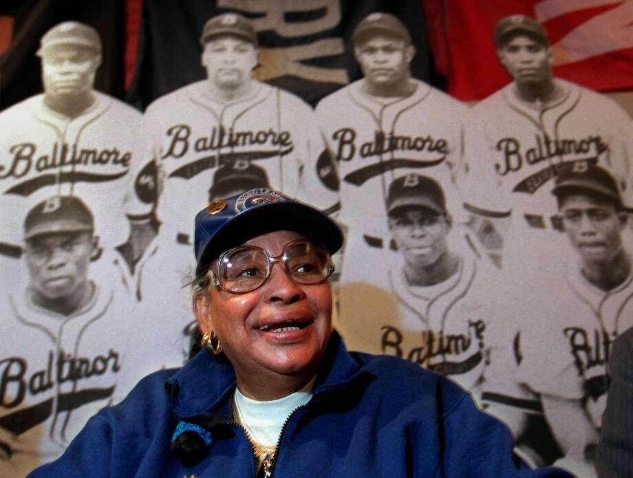 "Mamie ""Peanuts"" Johnson appears at the Babe Ruth Museum in Baltimore in 1998. Johnson was one of the few women to play baseball in the Negro Leagues. Photo: KHUE BUI, AP"