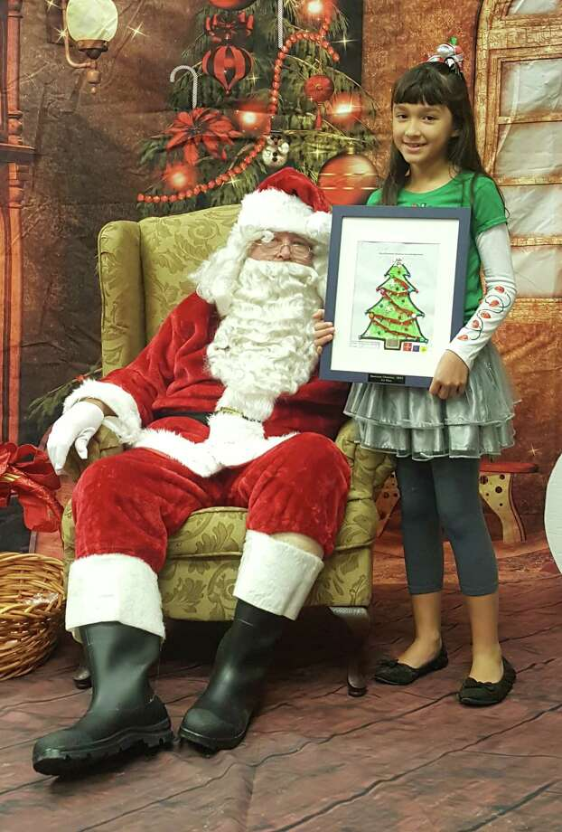 Allyson Vazquez, a fourth-grade student, is the first-place winner of the Hometown Christmas coloring contest. Photo: Submitted