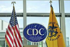 The Centers for Disease Control and Prevention logo at the agency's federal headquarters in Atlanta. That report about the CDC banning words? Didn't quite happen as reported.