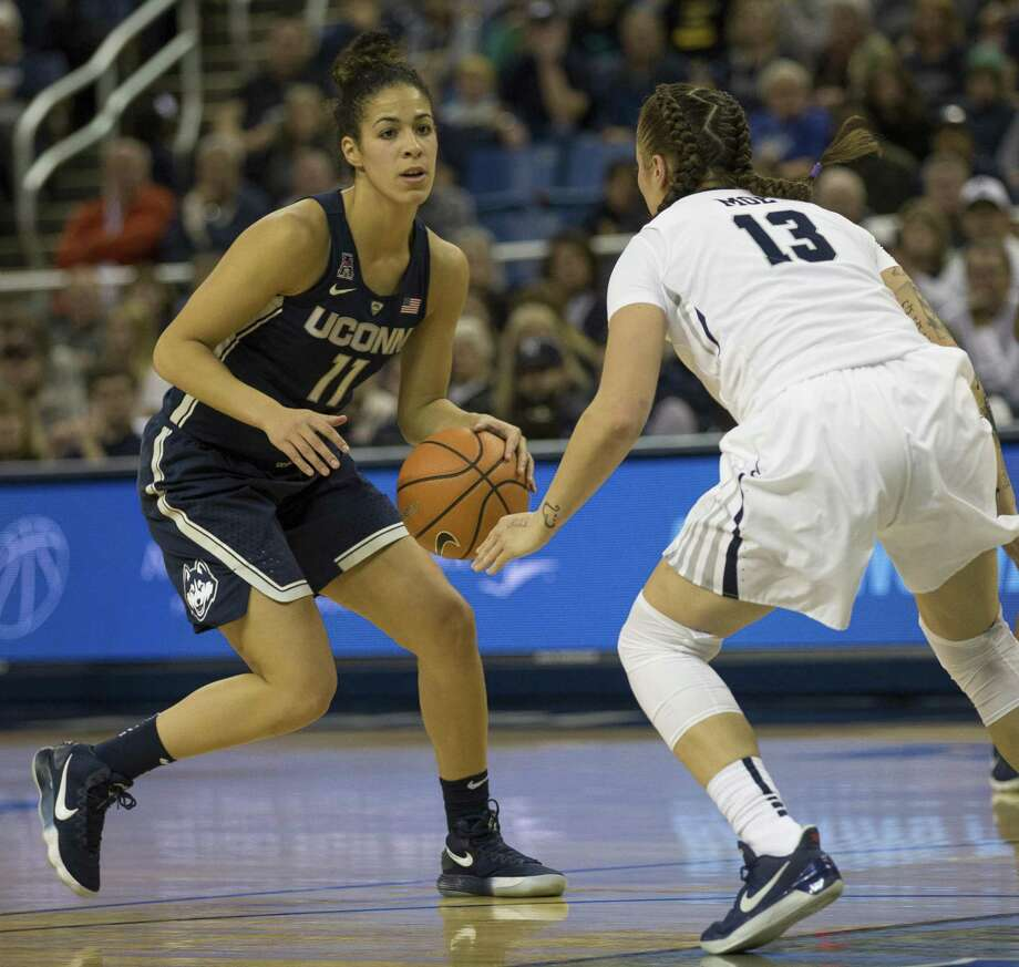 Canadian native Kia Nurse and the UConn women's basketball team will face Duquesne in Toronto on Friday. Photo: Associated Press File Photo / FR171463 AP
