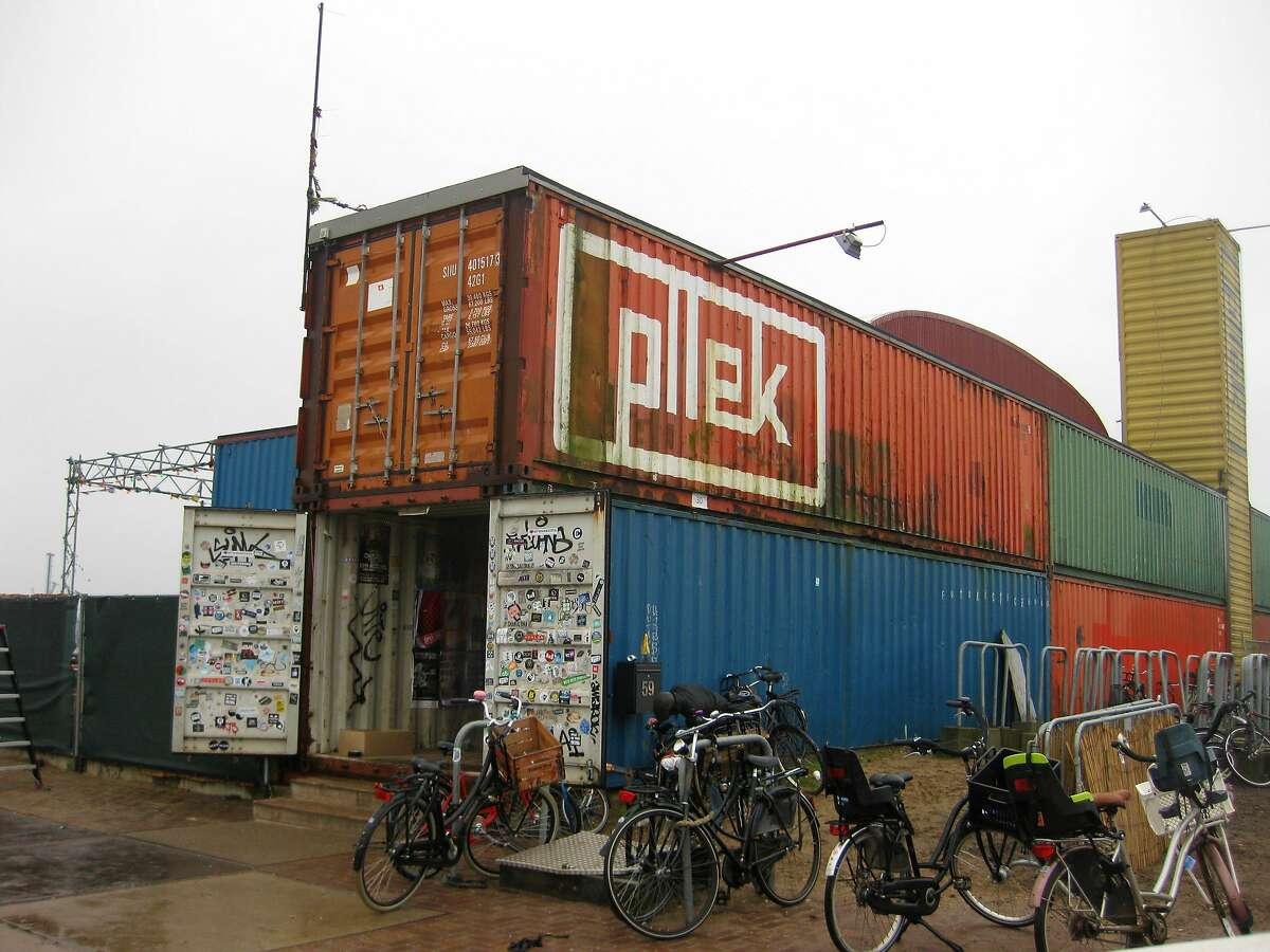 Pllek is a restaurant partly made from shipping containers and that has a popular man-made beach. On weekend nights, the restaurant turns into a club.