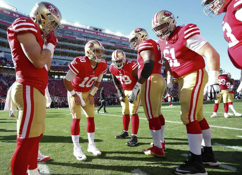 Jimmy Garoppolo (10), acquired from New England to be the team's quarterback of the future, has won his three starts with San Francisco. Photo: Michael Zagaris / Michael Zagaris / Getty Images / 2017 Michael Zagaris