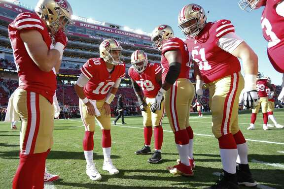Jimmy Garoppolo (10), acquired from New England to be the team's quarterback of the future, has won his three starts with San Francisco.