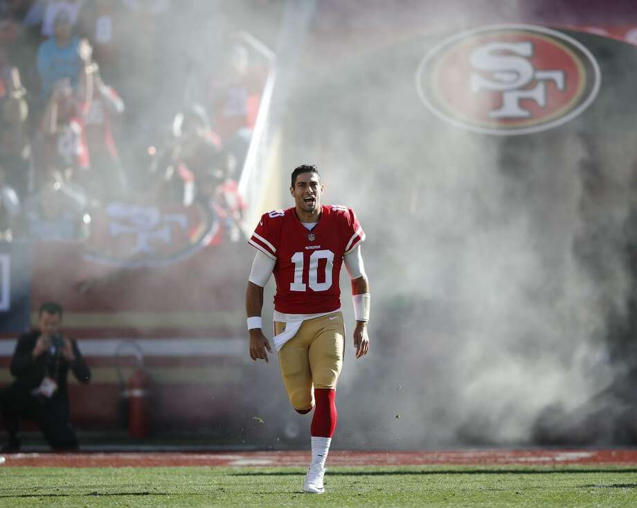 49ers quarterback Jimmy Garoppolo is getting much of the credit for renewed interest in the San Francisco 49ers this season.  Photo: John Hefti / John Hefti / Associated Press / FR171548 AP