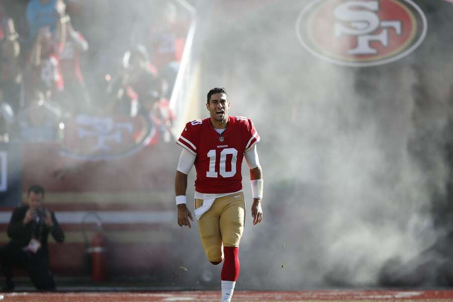 fe0f282d68c 1of3349ers quarterback Jimmy Garoppolo is getting much of the credit for  renewed interest in the San Francisco 49ers this season.