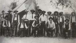 A photo in the book Lone Star Law: A Legal History of Texas has a photograph in it showing a 19th Century Ranger Frontier Battalion. The book was written by St. Mary's Law School professor Michael Ariens.