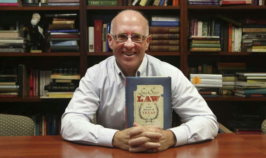 St. Mary's Law School professor Michael Ariens is the author of the book Lone Star Law: A Legal History of Texas. Ariens focuses on particular areas of Texas law, including property, family, business, criminal, and civil harms, and on the history of Texas legal profession.. Photo: John Davenport /San Antonio Express-News / ©John Davenport/San Antonio Express-News