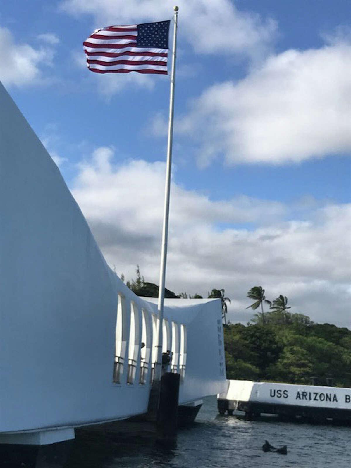 The USS Arizona Memorial.
