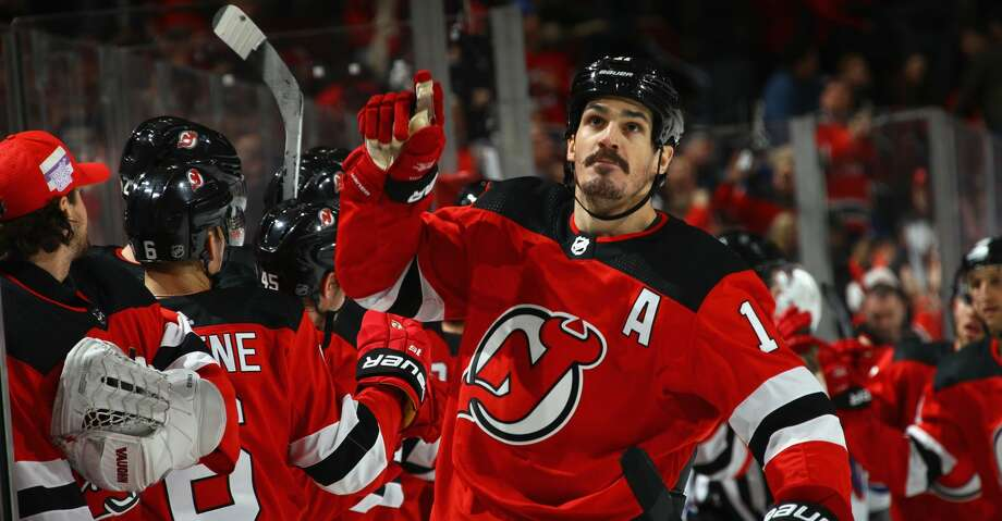 NEWARK, NJ - DECEMBER 21: Brian Boyle #11 of the New Jersey Devils celebrates his game tying powerplay goal at 11:54 of the third period at the Prudential Center on December 21, 2017 in Newark, New Jersey. The Devils defeated the Rangers 4-3 in the shootout.  (Photo by Bruce Bennett/Getty Images) Photo: Bruce Bennett/Getty Images