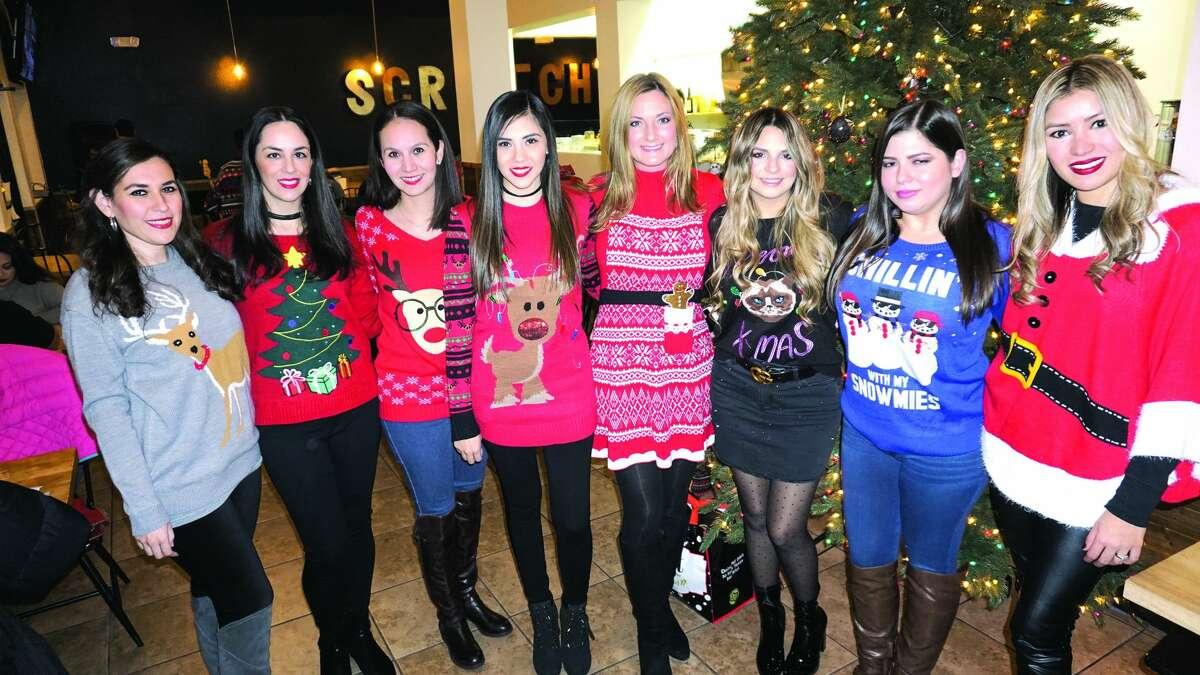 Vivi Elizondo, Ingrid Valdes, Sofia Maldonado, Priscilla Ortega, Monica Chapa, Taty Garza, Tanya Moreno and Alicia Ruiz at Scratch Sandwich Company Friday, December 22, 2017