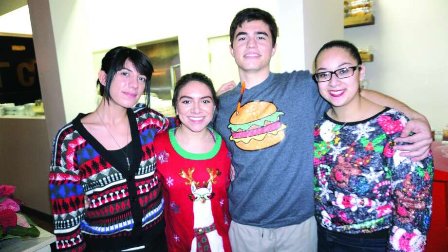 Kiana Barron, Bele'n Abascal, Sebastian Pueblitz and Catherine Herrera at Scratch Sandwich CompanyFriday, December 22, 2017 Photo: Jose Gustavo Mrales