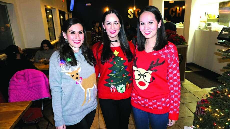 Sofia Maldonado, Ingrid Valdes and Vivi Elizondo at Scratch Sandwich CompanyFriday, December 22, 2017 Photo: Jose Gustavo Mrales