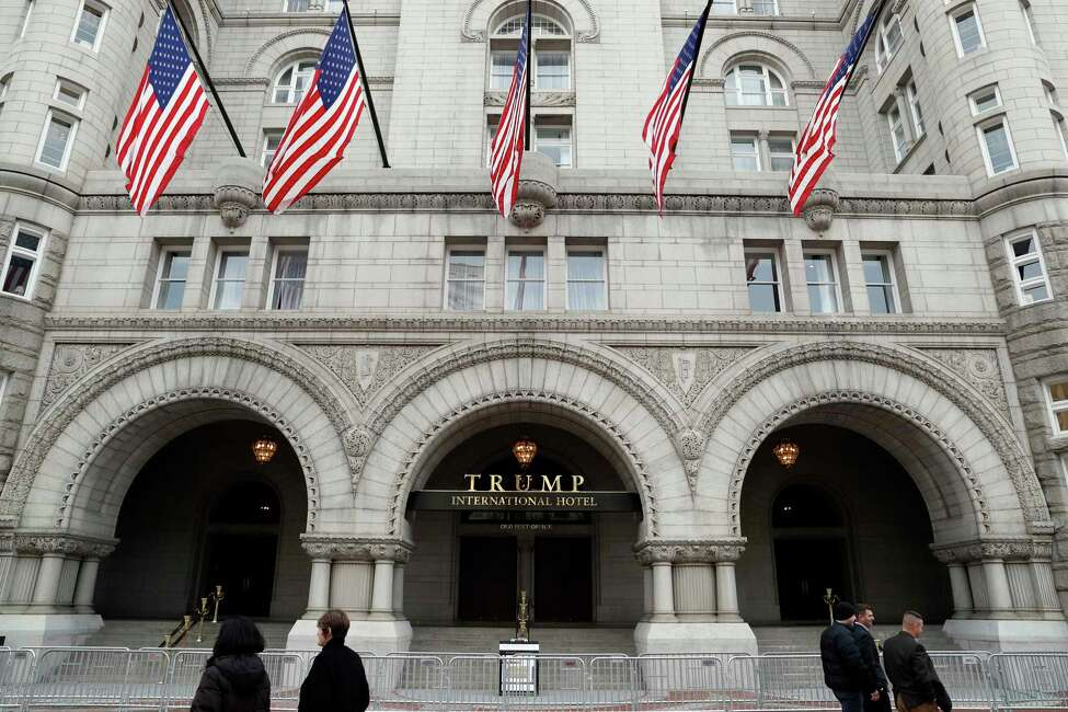 The Trump International Hotel in Washington is the subject of an emoluments clause lawsuit brought by the attorneys general from Maryland and Washington D.C. (AP Photo/Alex Brandon, File)