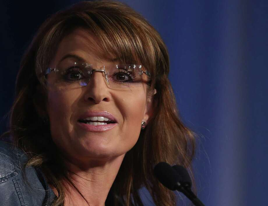 WASHINGTON, DC - SEPTEMBER 26:  Former Alaska Gov. Sarah Palin (R) speaks at the 2014 Values Voter Summit September 26, 2014 in Washington, DC.  Photo: Mark Wilson / 2014 Getty Images